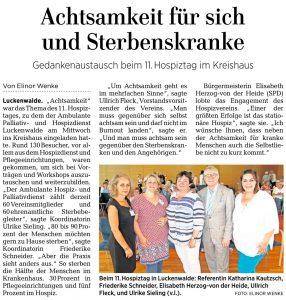 Artikel der Märkischen Allgemeinen vom 21.6.2018